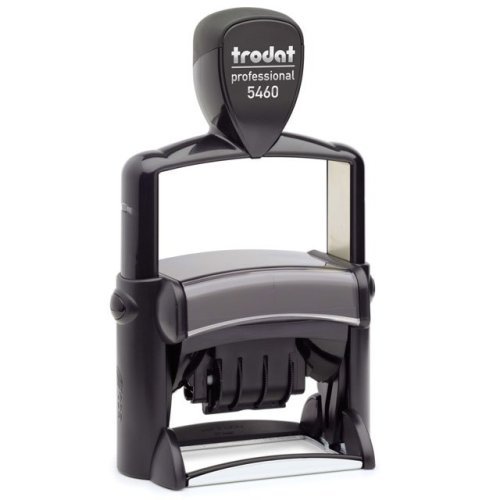 """trodat-5460 Trodat Professional 5460 Custom Self-Inking Stamp (33 x 56 mm or 1-5/16 x 2-1/4"""" with date)"""