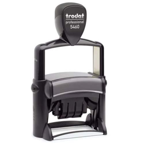 "trodat-5460L-1 Trodat Professional 5460/L Custom Self-Inking Stamp (33 x 56 mm or 1-5/16 x 2-1/4"" with stock text)"