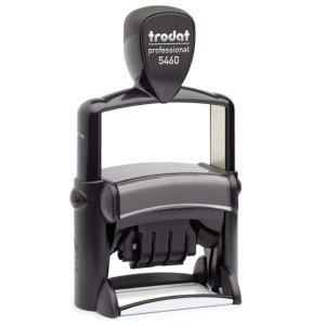 "trodat-5460L-1 Trodat Professional 5460/L Custom Self-Inking Stamp (33 x 56 mm or 1-5/16 x 2-1/4"" with stock text)"