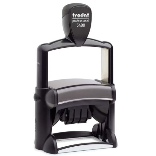 "trodat-5480 Trodat Professional 5480 Custom Self-Inking Stamp (47 x 68 mm or 2 x 2-3/4"" with date)"