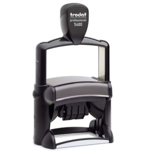 """trodat-5480 Trodat Professional 5480 Custom Self-Inking Stamp (47 x 68 mm or 2 x 2-3/4"""" with date)"""