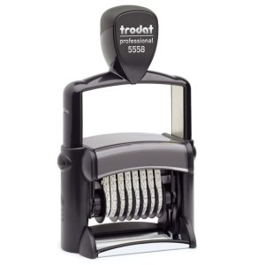 "trodat-5558 Trodat Professional 5558/PL Custom Self-Inking Stamp (33 x 56 mm or 1-5/16 x 2-1/4"" with numberer)"