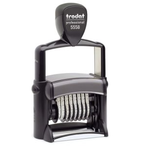"trodat-5558 Trodat Professional 5558 Custom Self-Inking Stamp (5 mm or 0.2"" high NUMBERER ONLY)"
