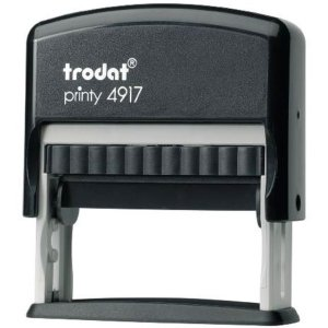 "trodat-printy-4917b Trodat Original Printy 4917 Custom Self-Inking Stamp (10 x 50 mm or 3/8 x 2"")"