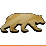 0005-bear-running Bear Running Shape (0005)