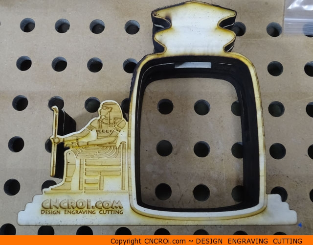 custom-coin-bank-1 Whitewood Egyptian Coin Bank Custom Design Engraving Cutting