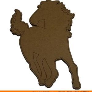 0059-horse-running Horse Running Shape (0059)