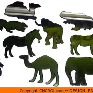 all-animals Elephant with Tusks Shape (0046)