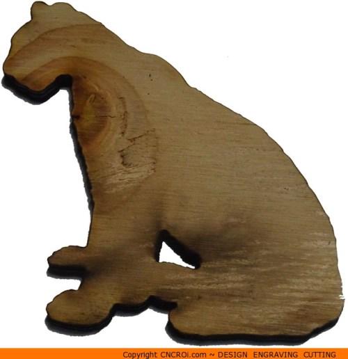 0093-panther-sitting Panther Sitting Shape (0093)