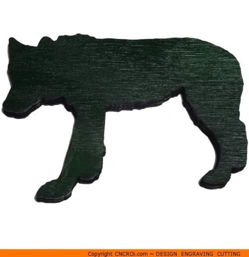 0096-wolf-walkingb Wolf Walking Shape (0096)