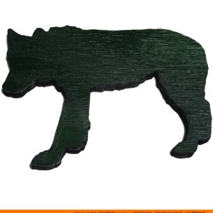0096-wolf-walkingb Wolf Walking Shape (0096)