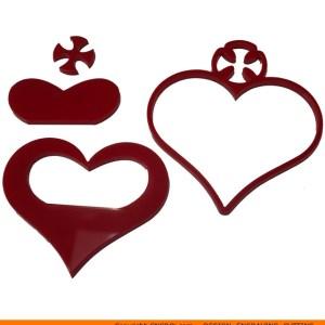 0137-heart-crossb Cross Filled Heart Shape (0137)