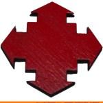 115-arrow-four-stagedc Four Staggered 90 Degree Arrow Shape (0115)