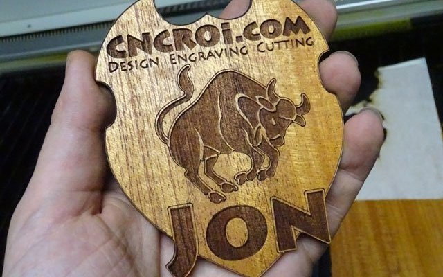 wood-name-badge-x1 Custom Wooden Name Badge: Thick Wood Veneer