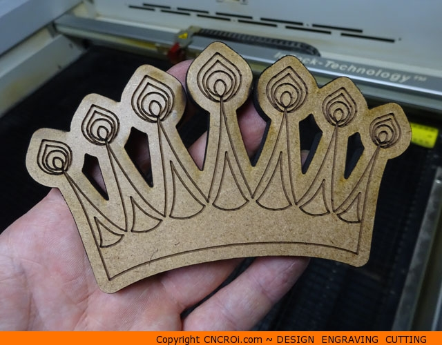 "custom-crown-king-1 Custom Wooden Royal Crowns: 1/4"" (6 mm) Scrap MDF Design 0160 - 0161"