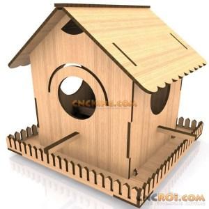 cnc-laser-bird-house-e Bird House E