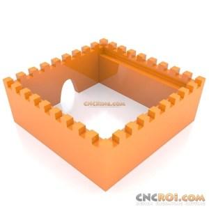 cnc-laser-medieval-castle-walls 3D Medieval Castle Walls
