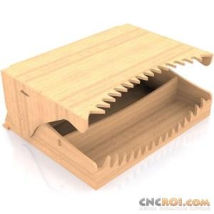 cnc-router-croc-head Croc Head Organizer