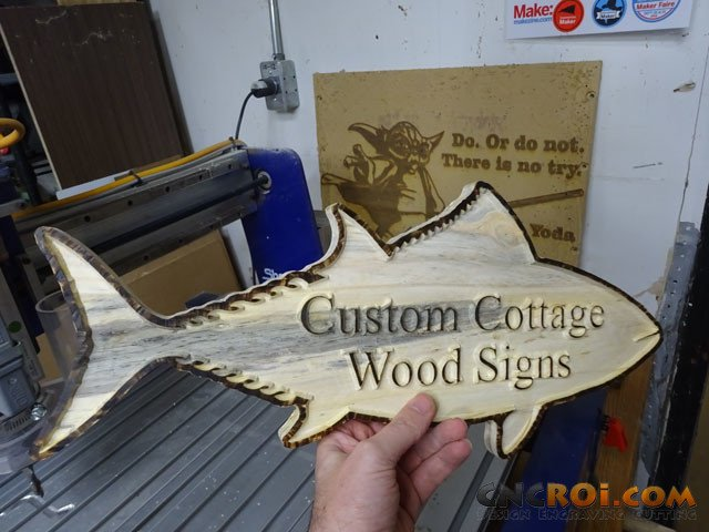 cottage-wood-sign-1 Custom Cottage Wood Sign