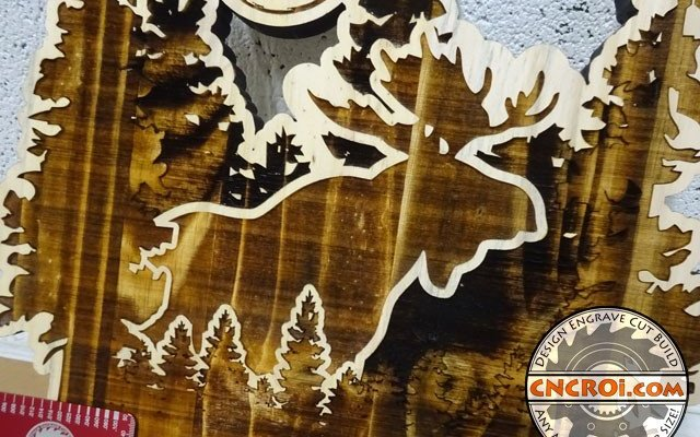 wall-mount-key-holder-xx Custom Moose Key Holder: CNC Laser Engraved and Cut Whitewood