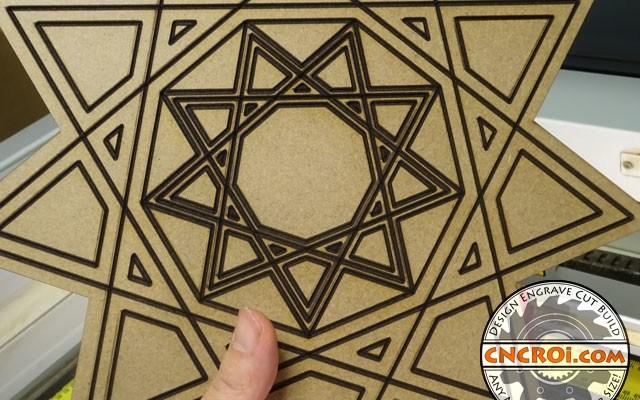 oldb V-Laser Carving MDF