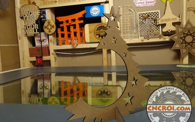 "ornament-holder-x5 Christmas Ornament Holders: 1/8"" / 3 mm MDF CNC Laser Cutting"