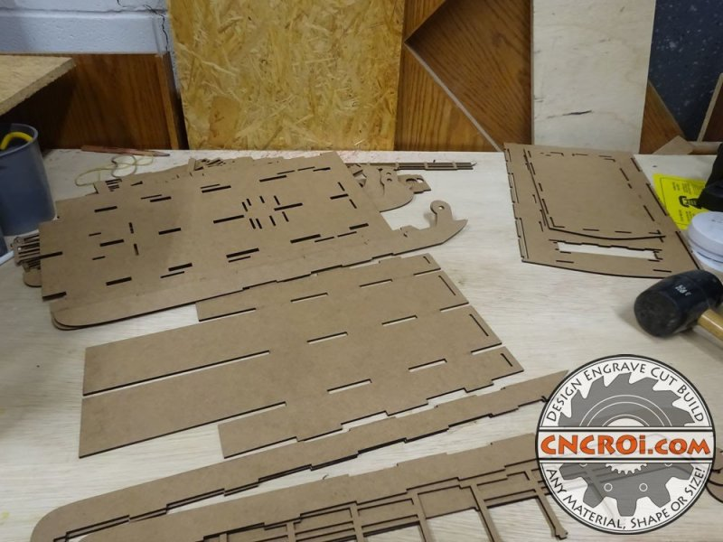 Steamboat Model 3d To Laser Cutting To Assembly