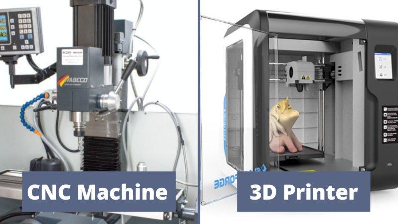 cnc vs 3d printing additive vs subtractive manufacturing