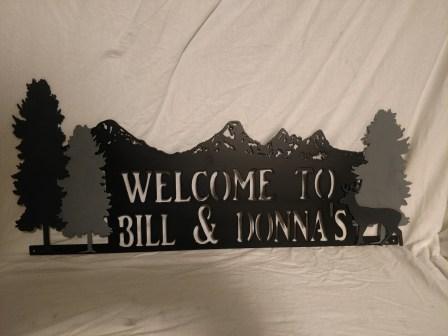 black and shades of gray custom sign