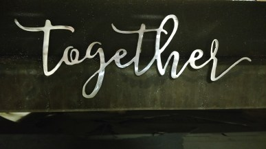 small together script steel