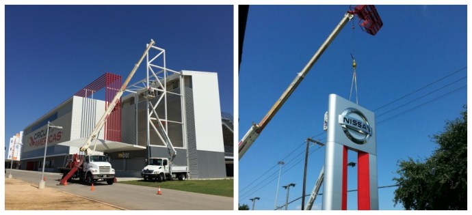 Installation for CND Signs - Nissan and Circuit of the Americas