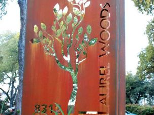 laurel woods sign