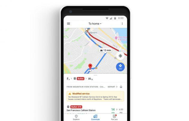Google地圖增兩大新功能!攜手Spotify、Apple Music推整合介面、加入通勤標籤
