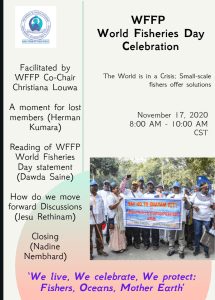 We live, We celebrate, We protect: Fishers, Oceans, Mother Earth Statement of the World Forum of Fisher Peoples (WFFP) – World Fisheries Day, 21 November 2020