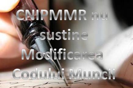 CNIPMMR nu sustine modificarile aduse Codului Muncii prin initiativa cetateneasca