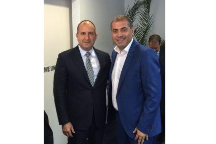 Intalnirea presedintelui CNIPMMR, Florin Jianu, cu presedintele Bulgariei, Rumen Radev