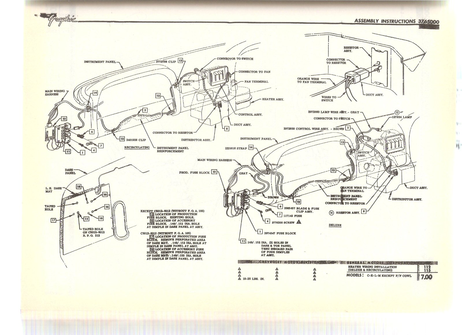 1972 Corvette Dash Wiring Diagram Library