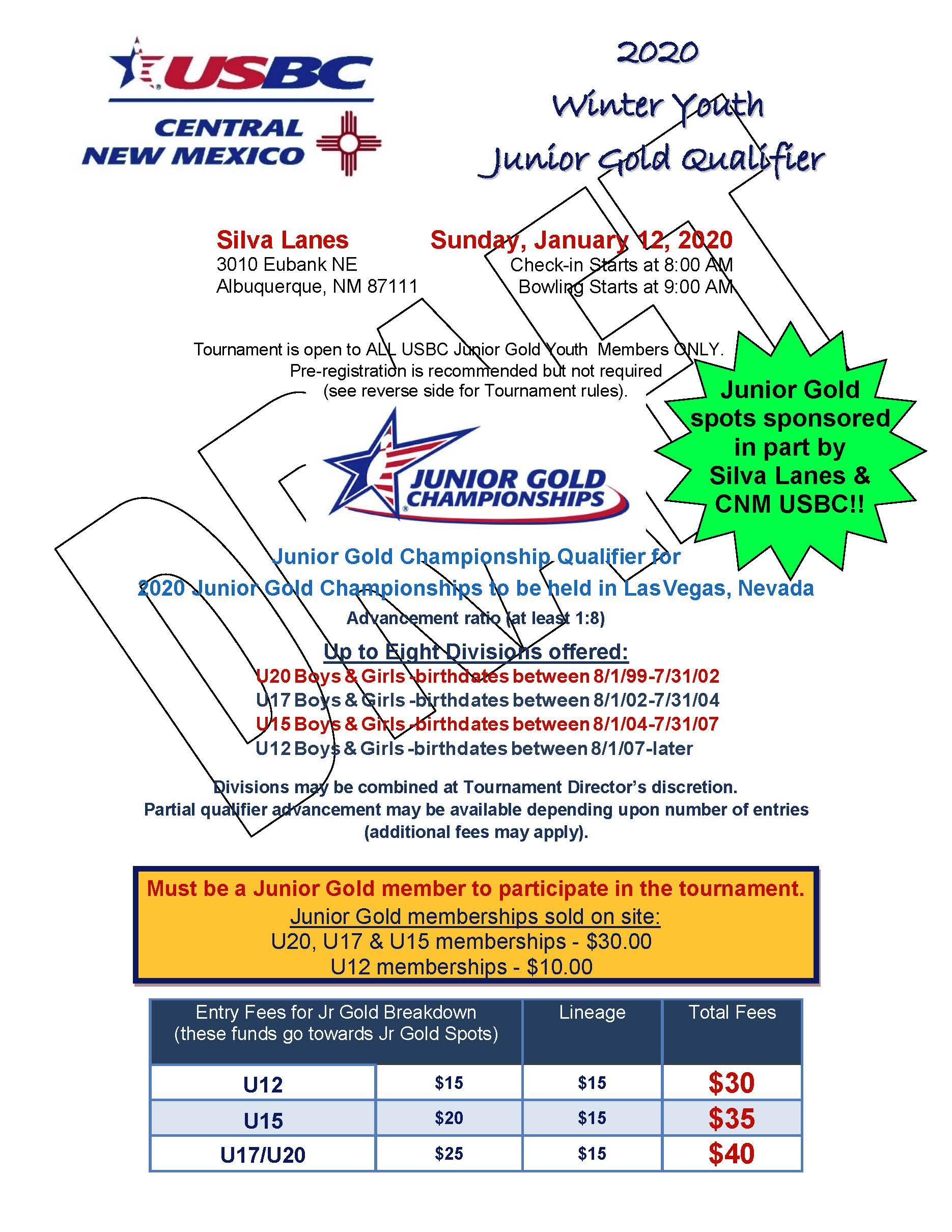 Winter Youth Junior Gold Qualifier Cnm Usbc