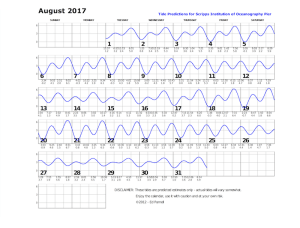 August 2017 tide chart