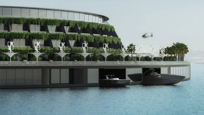 In Qatar ... the concept of a floating, revolving hotel that makes its own electricity could become a reality