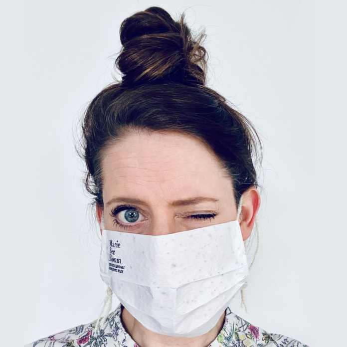 Produce flowers instead of garbage .. These biodegradable masks turn into flowers upon disposal