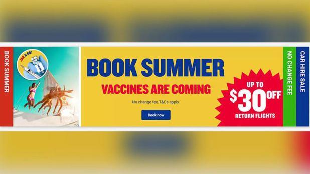 """""""اللقاحات قادمة"""".. شركة طيران أوروبية تواجه التحقيق بسبب إعلان مضلل عن السفر وسط كورونا"""