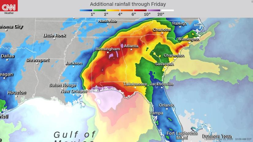 Sally affects several states in the Gulf of Mexico