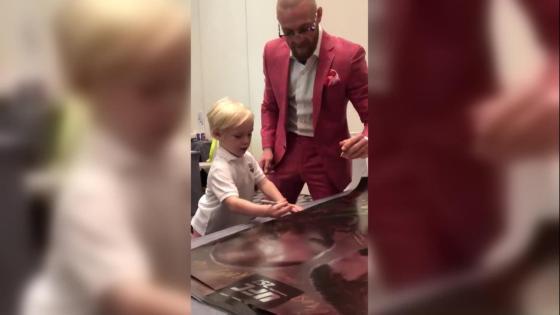 UFC 257: McGregor's son steals the show