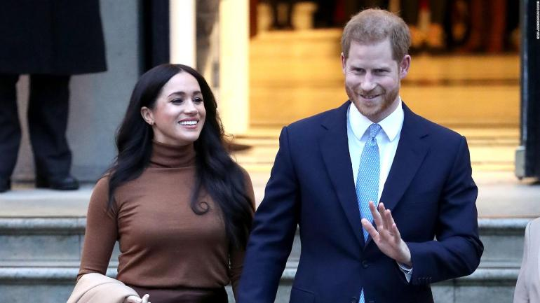 Prince Harry and Meghan Markle leave British royalty