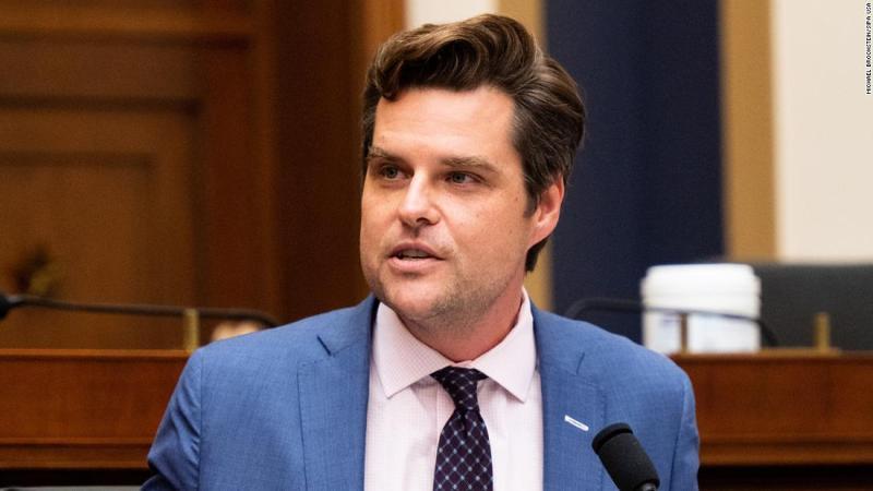 El representante Matt Gaetz niega relación con joven de 17 años y afirma intento de extorsión