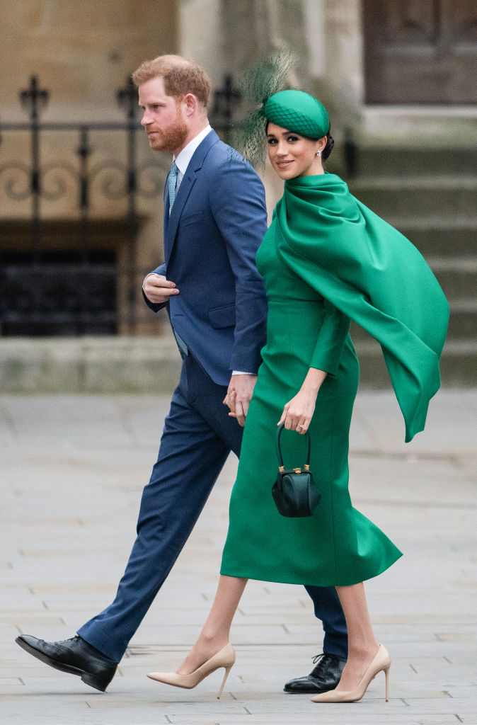 LONDON, ENGLAND - MARCH 09: Prince Harry, Duke of Sussex and Meghan, Duchess of Sussex attend the Commonwealth Day Service 2020 on March 09, 2020 in London, England. (Photo by Gareth Cattermole/Getty Images)