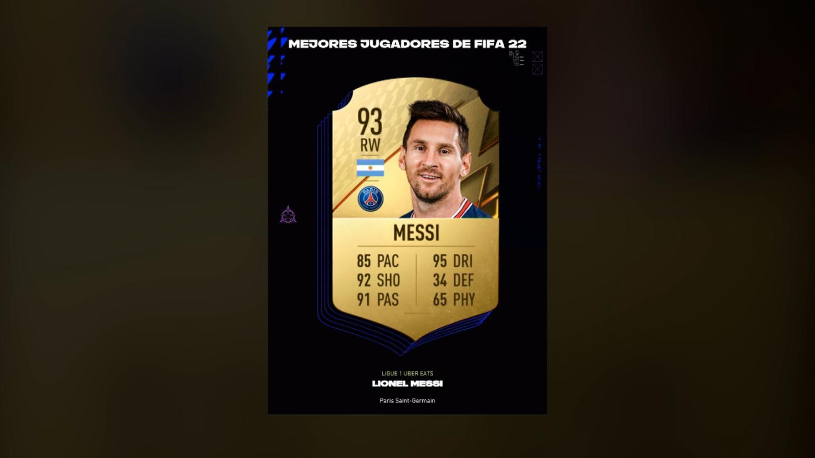 Messi es el mejor jugador del FIFA 22. Esta es la lista completa que dio a conocer EA Sports | Video