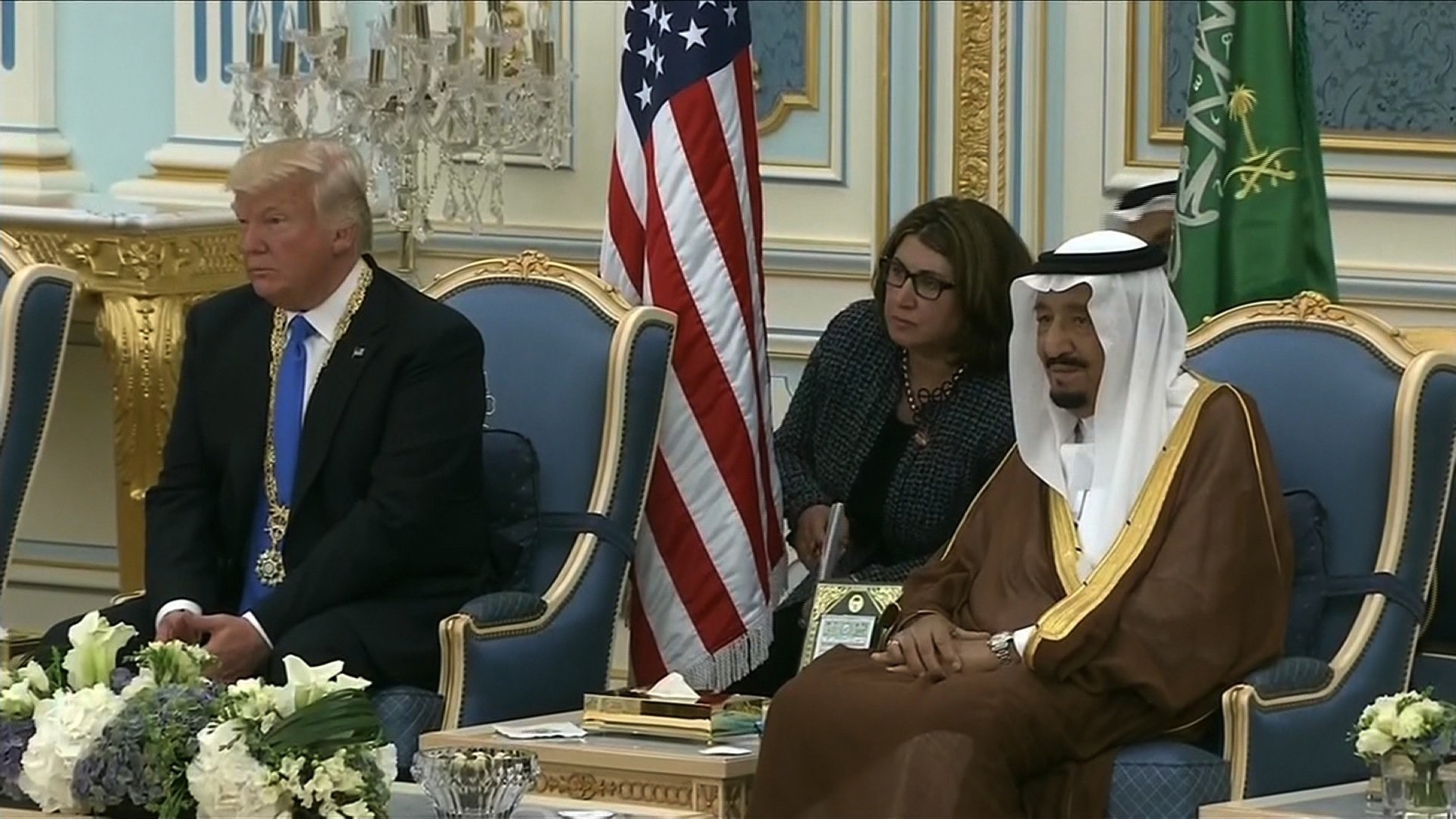Image result for Photo of president with saudi arabia officials