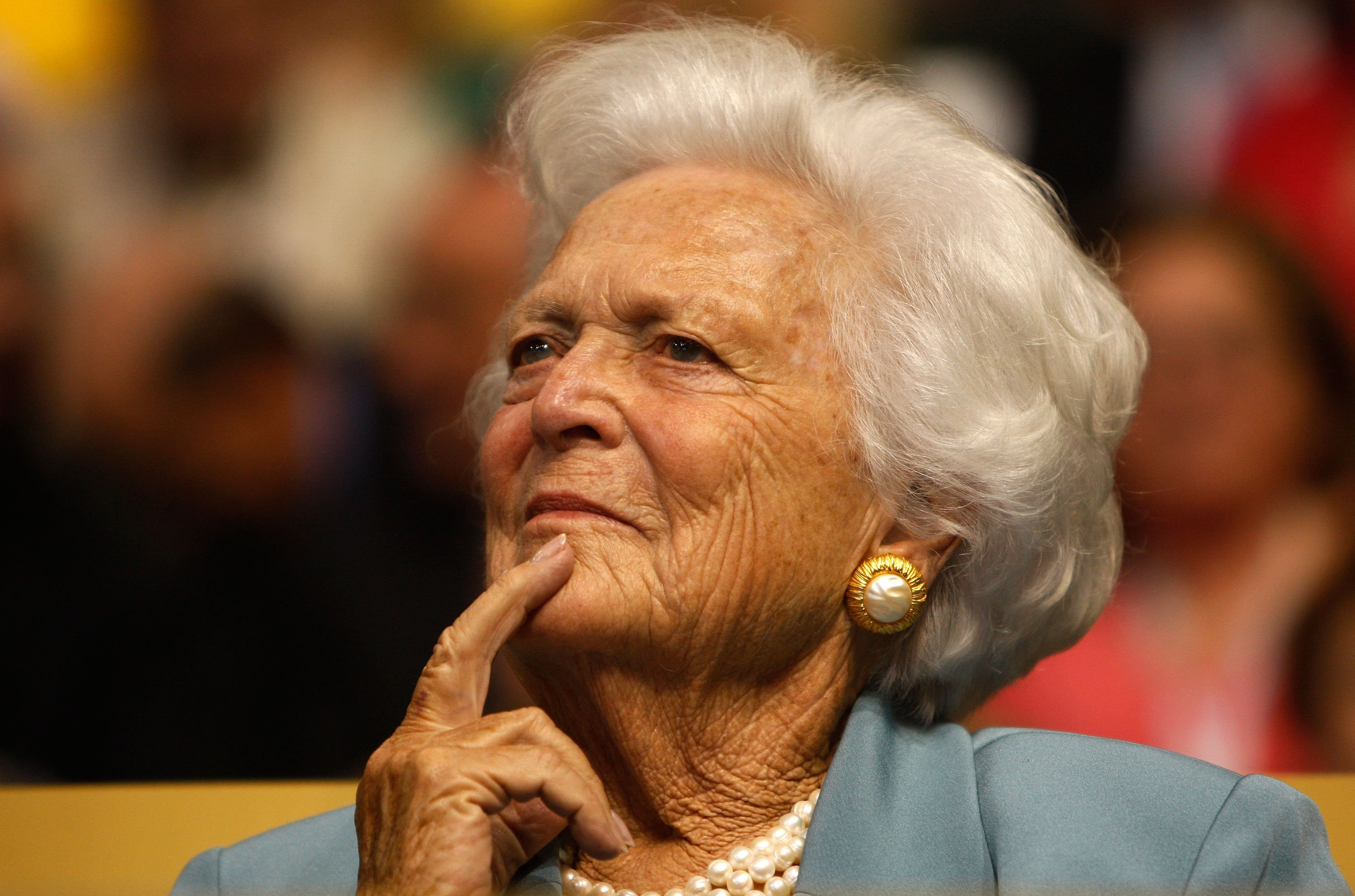Image result for Barbara Bush in great spirits and feisty, source says